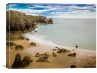 Flimston Bay, Stack Rocks, Pembrokeshire, Canvas Print