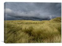 The Storm at Aberffraw., Canvas Print