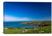 A view of Trwynbychan from Porth Wen, Anglesey., Canvas Print