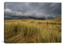 The Foreboding Sky on Aberffraw Sand Dunes., Canvas Print