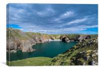 Bullslaughter Bay, Stack Rocks, Pembrokeshire., Canvas Print