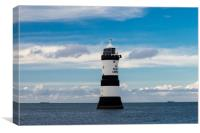 Penmon Lighthouse, Anglesey., Canvas Print
