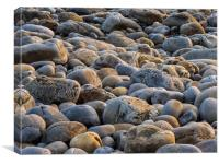 Rocks and Pebbles at Morfa Bychan Beach, Pendine., Canvas Print