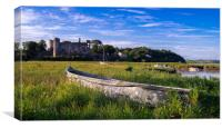 Old Boat - Laugharne Estuary, Canvas Print