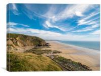 Newgale Beach, Pembrokeshire, Wales., Canvas Print