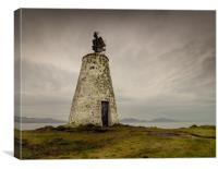 The Old Beacon, Llanddwyn Island, Anglesey., Canvas Print