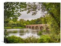 The Eight Arch Bridge at Bosherston., Canvas Print