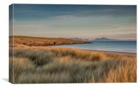 Aberffraw Beach at the end of a Winter Day., Canvas Print
