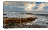 Amroth and the Rising Tide., Canvas Print