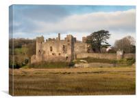 Laugharne Castle., Canvas Print