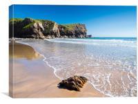 Bullslaughter Bay, Pembrokeshire, Wales, Canvas Print