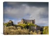 Carreg Cennen Castle, Llandeilo, Carmarthenshire, , Canvas Print