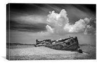 Ship wreck at Crow Point, Canvas Print
