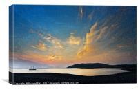 Sunrise at Porlock Weir, Canvas Print