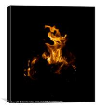 Dancers in the Flames, Canvas Print