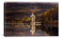 The Princess Tower Lake Vyrnwy Wales, Canvas Print