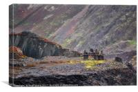 The Old Slate Works - Dinorwic Slate Quarry Wales, Canvas Print