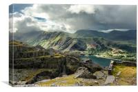 Llanberis Pass & Dinorwic Quarry, Canvas Print