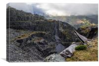 On A Knifes Edge - Dinorwic Quarry, Canvas Print