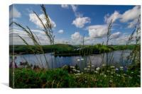 Clwedog Dam near Llanidloes, Mid Wales, Canvas Print
