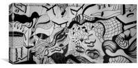 Street Art Graffiti in Melbourne, Canvas Print