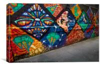 Graffiti Street Art , Canvas Print