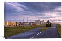 Promenade walk to Norbreck Castle Hotel, Blackpool, Canvas Print