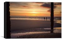 Golden Hour on The Beach, Canvas Print