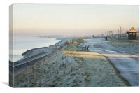 Frosty morning at Bispham, Blackpool., Canvas Print