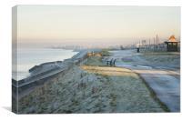 Frosty morning at Bispham, Blackpool., Canvas Print