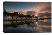 Tobermory Harbour, Island of Mull, Scotland, Canvas Print