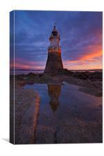 Plover Scar Lighthouse, Canvas Print