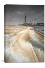Blackpool sea front, Lancashire, North West, Unite, Canvas Print