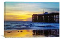 Sunrise at Penarth Pier, South Wales, Canvas Print
