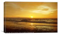Golden Sunrise at Whitmore Bay, Wales, Canvas Print