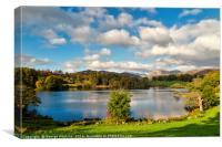 Autumn at Loughrigg Tarn, Canvas Print