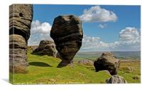 The Bride Stones of Stansfield Moor, Canvas Print