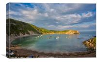 Last Light at Lovely Lulworth Cove, Canvas Print