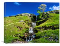 Cray Waterfalls in Upper Wharfedale, Canvas Print