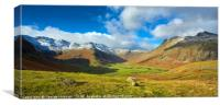 Spring Snowfall in the Langdales, Canvas Print