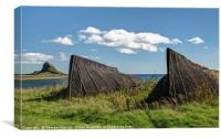 The Upturned Boats of Lindisfarne Island, Canvas Print