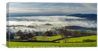 A Misty Panorama of Windermere and the Fells, Canvas Print