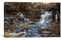 Hidden Waterfall at Cray, Yorkshire Dales, Canvas Print