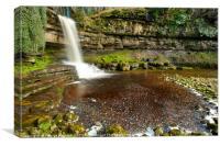 Grange Beck Waterfall, Canvas Print