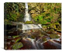 Mill Gill Force Waterfall, Canvas Print