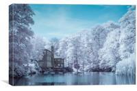 Knaresborough Infrared scene, Canvas Print