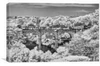 Knaresborough viaduct infrared, Canvas Print