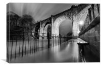 Knaresborough Viaduct at night, Canvas Print