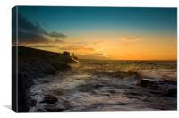 Sunrise at Porthcawl., Canvas Print