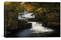 The horseshoe falls, South Wales., Canvas Print